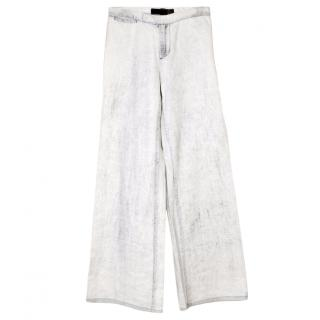 Just Cavalli White Stonewashed Jeans