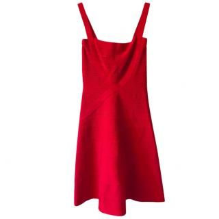 Herve Leger Red Bandage Dress