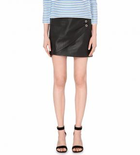 Maje Jones Lambskin Leather Mini Skirt