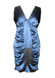 Hale Bob Blue Silk Dress