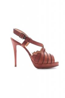 Christian Louboutin Leather Strap Open Toe Sandals