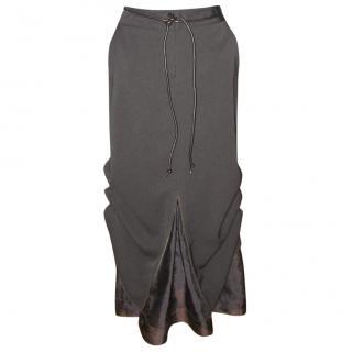 Marithe Francois Girbaud Long Black Skirt