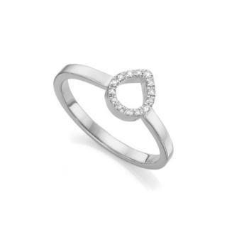 Monica Vinader Silver Diamond Naida Ring