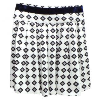 Vera Wang Lavender Label Patterned Skirt