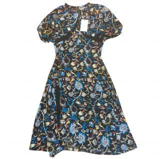J W Anderson Floral Crepe de Chine Dress