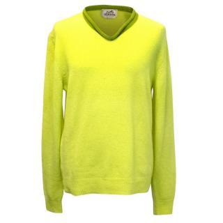 Hermes Bright Green Cashmere Jumper
