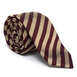 Prada Silk Striped Tie