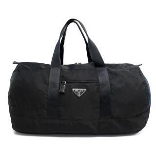 Prada black duffle bag