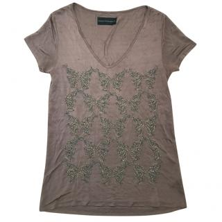 Zadig & Voltaire Brown Butterfly T Shirt