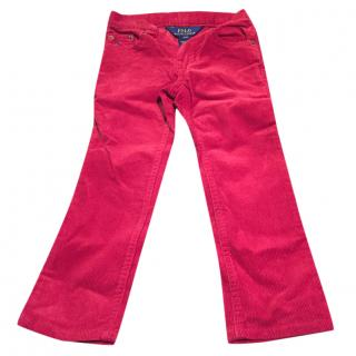 Polo Ralph Lauren Kids Red Trousers