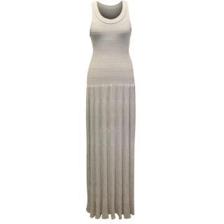 Alaia Beige Ondine Maxi Dress