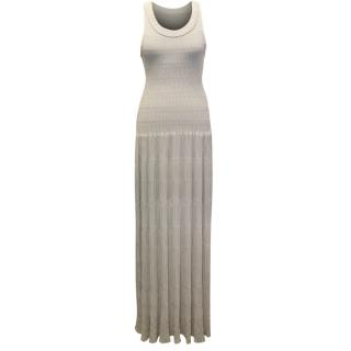 Alaia Beige Ondine Maxi Dress
