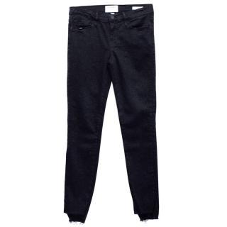 Frame Black Skinny Step Hem Jeans