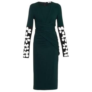 Issa Green Alison Contrast-Sleeve Jersey Dress