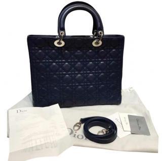 Dior Lady Dior Navy Bag
