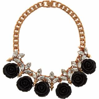 Mawi Crystal and Floral Necklace