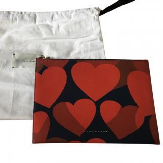Victoria Beckham Heart print clutch