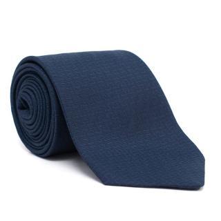 Hermes Silk Dark Blue Tie