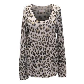 Sass & Bide Leopard Print Merino Wool Knit Jumper