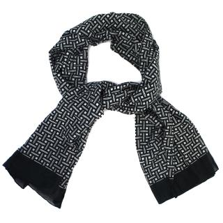 Alexander McQueen Black And White Cotton Scarf