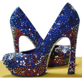 Saint Laurent Swarowski crystal shoes