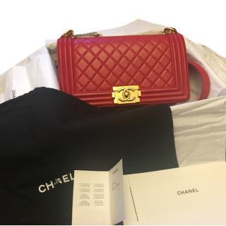 efea5aa79 Chanel Boy Medium Red GHW