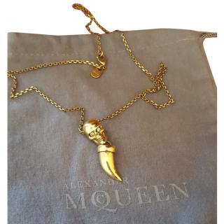 Alexander McQueen Skull Necklace with Tusk