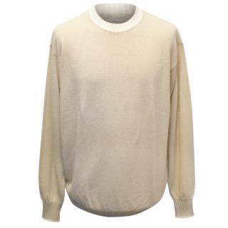 Doriani Mens Beige Cashmere Blend Knit Sweater