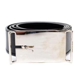 Dior Mens Black Leather Belt