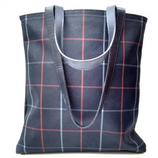 Burberrys Navy Blue Check Shoulder bag