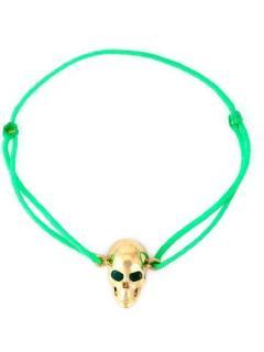 Lei Van Kash Green Emerald Eyes Skull Bracelet