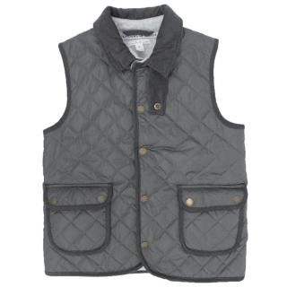 Marie Chantal Grey Quilted Gilet