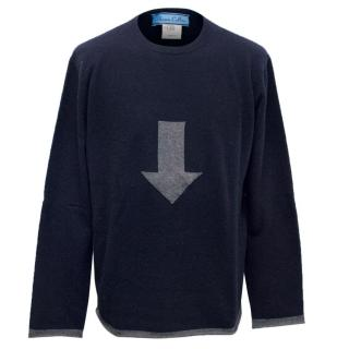 Shawn Collins Navy Mens Jumper