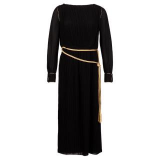 Saint Laurent Pleated Maxi Dress