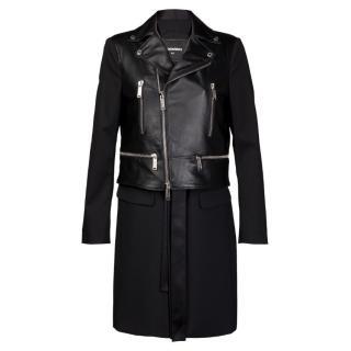 Dsquared2 Leather Coat