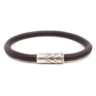 Bottega Brown Leather Bracelet