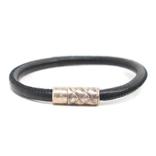 Bottega Veneta Black Leather Bracelet