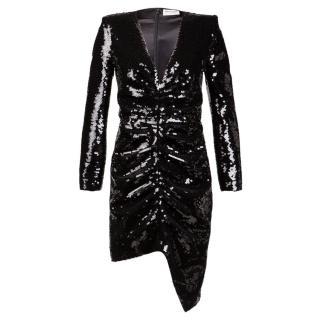 Saint Laurent Black Sequinned Dress