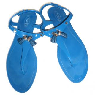 Tods Blue Sandals