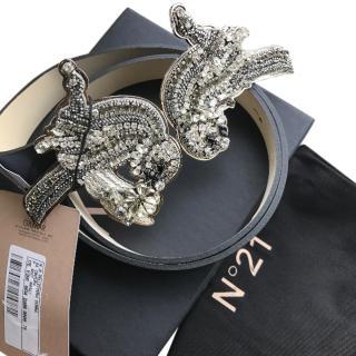 No21 Calf Leather Embellished Belt