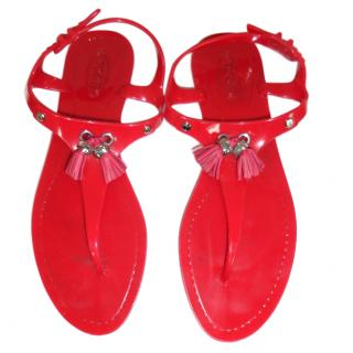 Tods Red Sandals
