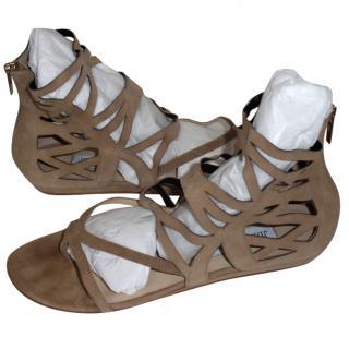 Jimmy Choo Beige Lattice Sandals