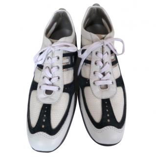 Hogan Navy and White Trainers