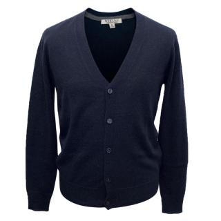 WHO.A.U Mens Navy Cardigan