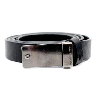 Costume National Black Leather Belt