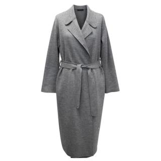 The Row Grey Wool Belted Coat