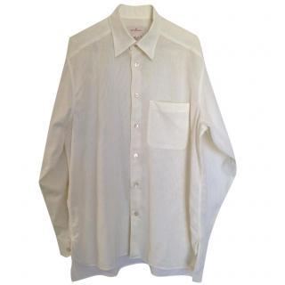 Ermenegildo Zegna ecru cotton shirt