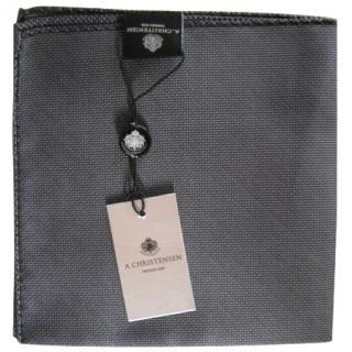 A. Christensen Grey Silk Handkerchief