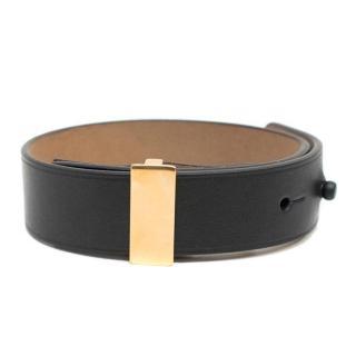 Lanvin Black Buckle Mens Bracelet