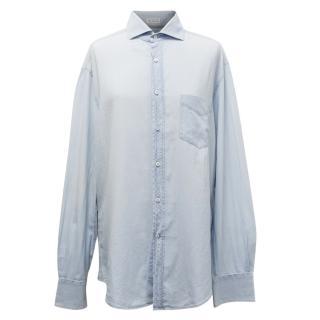 Brunello Cucinelli Blue Denim Shirt